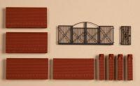41622 Auhagen ограда кирпичная с воротами