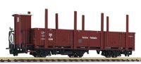 L245405 Liliput вагон offener Wagen 3-achs, Olm, mit Holzrungen, DR, Ep.II